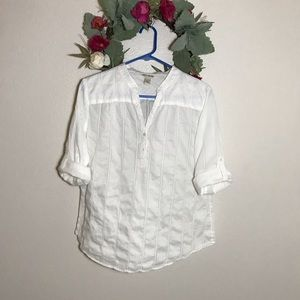 Lucky Brand Rolled Sleeve Blouse